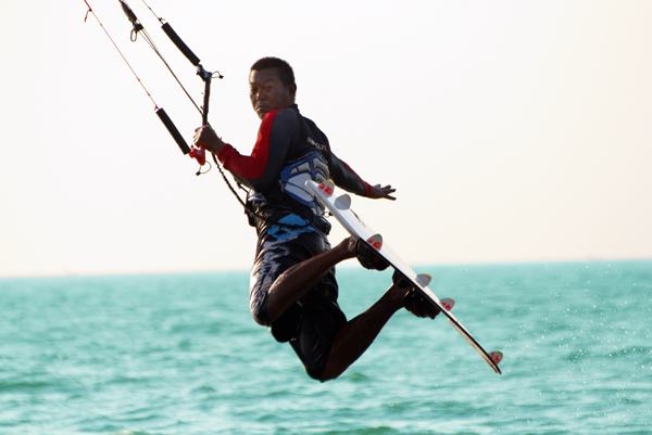 Kiteboarding by win