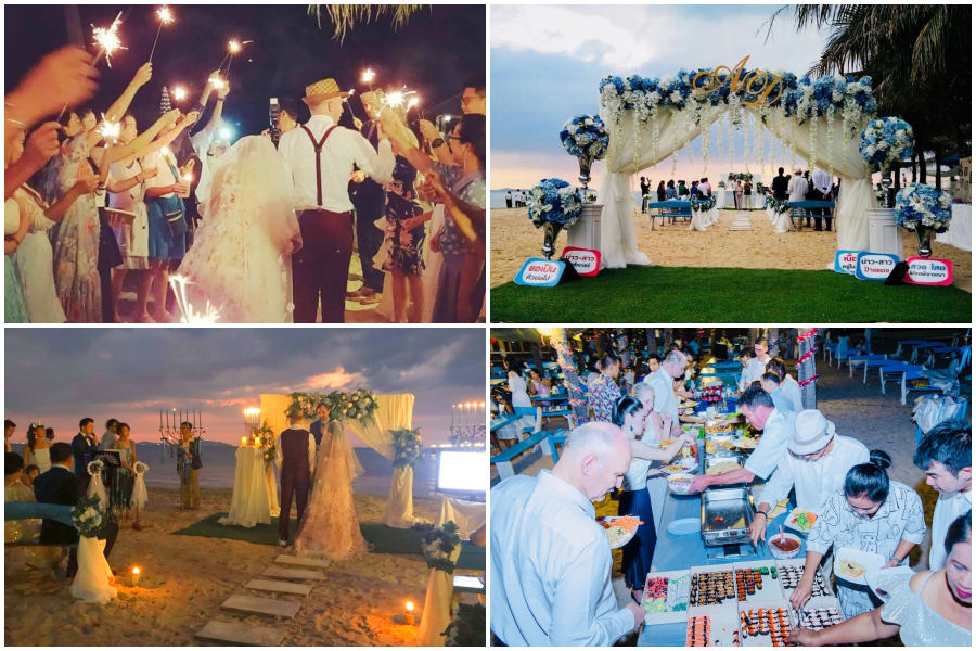 wedding on the beach bangsaen chonburi